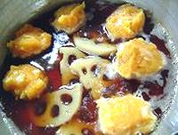 鶏だんごのはちみつソース煮