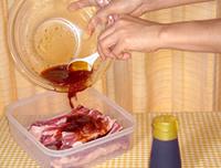 黒糖蜂蜜のスペアリブ