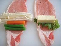豚肉の野菜チーズ巻き