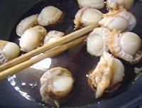 ホタテの卵丼